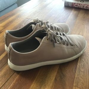 Cole Haan Taupe Crosscourt Suede Sneakers